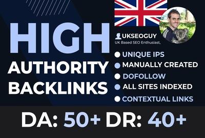 Create high quality dofollow backlinks link building SEO