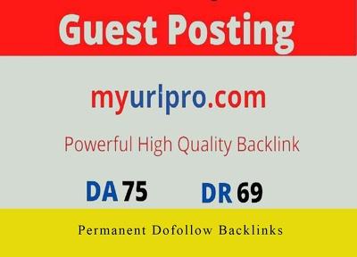 Guest Post on myurlpro.com, myurlpro with Dofollow Link DA 75