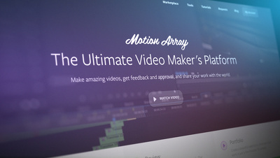 Provide you motion array template