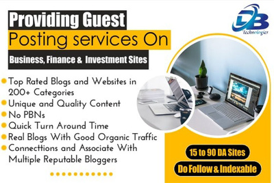 Providing Guest Post on Business, Finance and Investment Sites