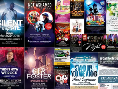 Do awesome flyer design for your business, church or event