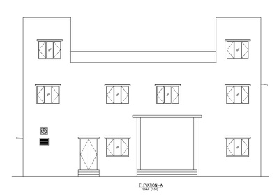 2D Floor Plan and Elevation of building or Apartment