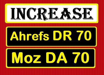 Increase domain authority, increase moz da 50+