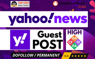 ⭐Publish HIGH AUTHORITY post + backlink - YAHOO NEWS / FINANCE ⭐