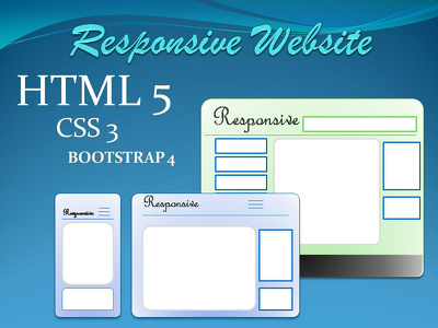 Convert PSD to html, Figma to html, using bootstrap4, Responsive