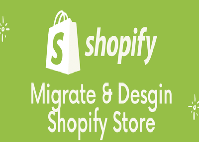 I will design and migrate data to your shopify store..
