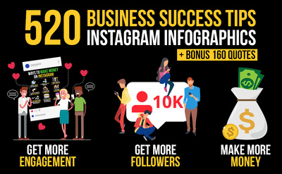 Design business success tips infographics for instagram