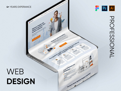 Create a website one page design in Figma