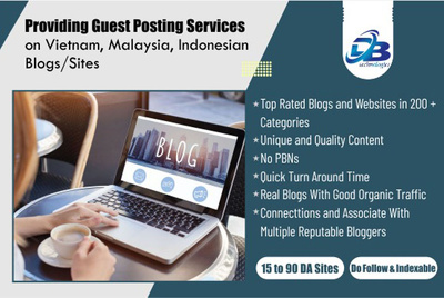 Providing Guest Post on Vietnam, Malaysia and Indonesian Sites