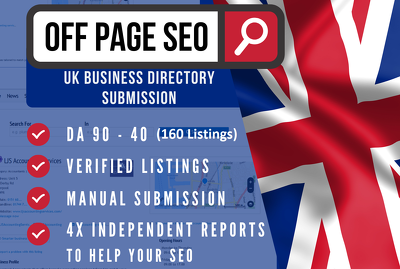 Create 200 UK business directory links & citations