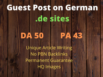 Publish Guest Post on German .de website with DA 50