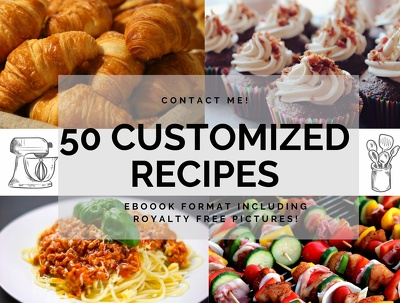 Give you 40 unique and delicious customized  recipes