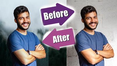Remove or replace the background on your photos