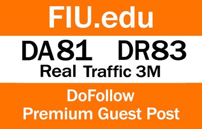 Write And Publish Guest Post On Fiu.edu   DA81 - DR83