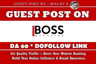 Guest Post on TheBossMagazine. TheBossMagazine.com DA60