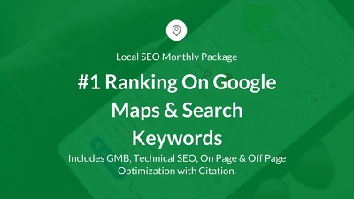 Monthly Local SEO Business Package-Guaranteed Ranking in the UK