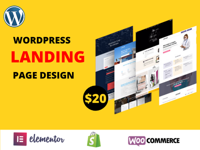 Design responsive WordPress landing page with elementor pro