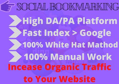 Do 200+ High Quality Social Bookmarking Backlinks