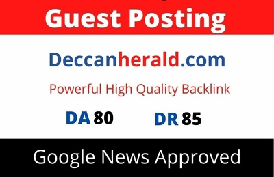 Publish Guest Post on Deccanherald, Deccanherald.com DA 80