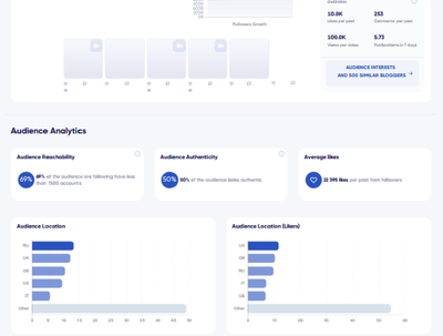 Audit 1 Instagram Influencer and Create a Bespoke Report