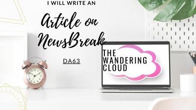 Write an article on NewsBreak.com DA63