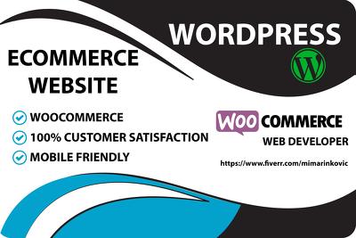 Develop wordpress ecommerce website woocommerce online store