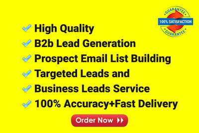 I will do lead generation, list building, and web research