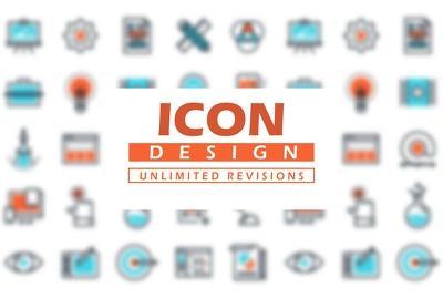Create custom Flat App Icons Design or Icon Set