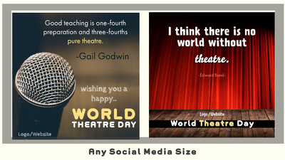 Design 50 World Theatre Day Greetings |Theatre/Artist Quotes