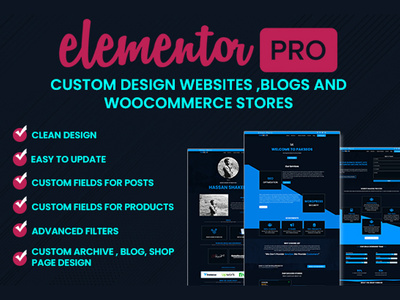 Design professional wordpress website with elementor pro