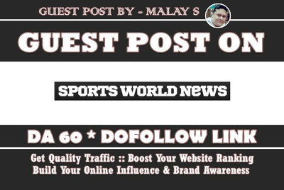 Guest Post on Sportsworldnews. sportsworldnews.com DA60