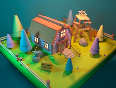 Make 3D low poly asset for your game