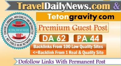 Write and publish on TravelDailyNews Dofollow link