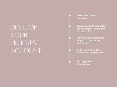 Develop your Pinterest account