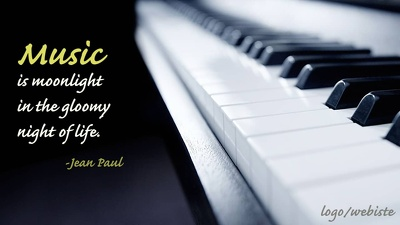 Design 50 Music Wallpapers | Music Quotes Images with Logo