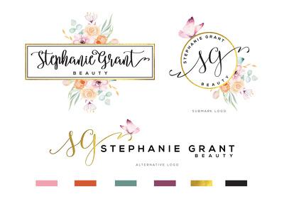Design a Watercolor Logo Brand Kit