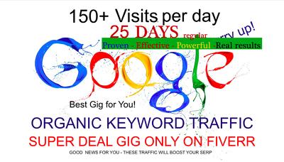 Drive 25 Day Google Organic Search Traffic Using Keywords