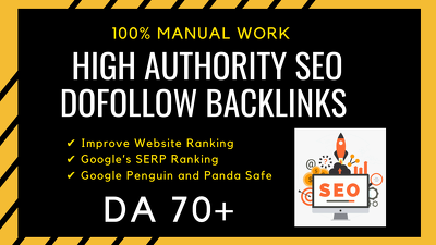 High authority SEO dofollow backlinks for google rank