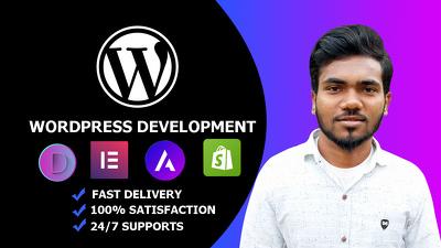 Design & develop responsive WordPress website professionally