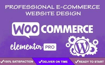 Design wordpress elementor woocommerce ecommerce website design