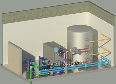 Create a 3D model in Revit MEP