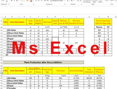Create , fix or modify formulas in Ms Excel