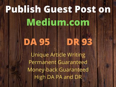 Publish Guest Post on Medium.com DA 95 Permanent Post