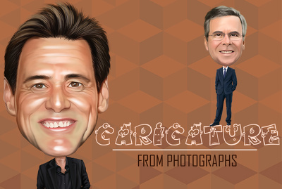 Illustrate Caricature from photograph in any style