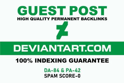 Publish A Guest Blog Post On deviantart. com DA-84
