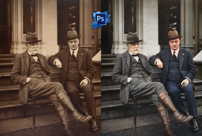 Make it colorize 4 images in photoshop