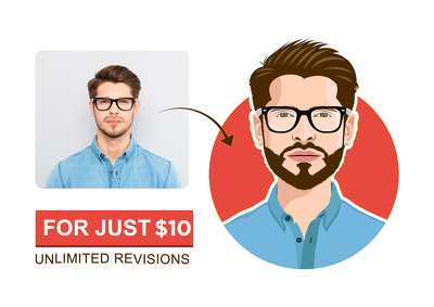 Design your awesome flat avatar or icon for yourself