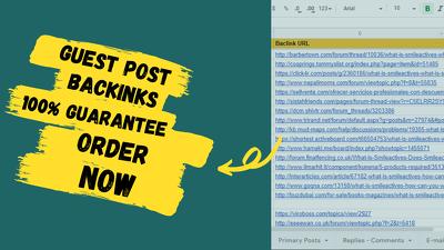 30 SEO Guest Post Backlinks DA 50 to DA 70+ Permanent Links