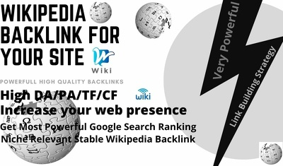 Get 200+ High Authority Wiki Articles backlink for your site