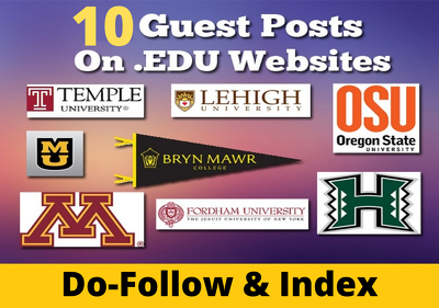 10 Premium edu guest post from top 10 university sites